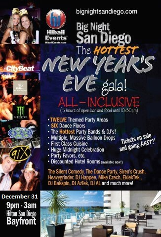 San Diego New Year's Parties NYE 2013 – 2014