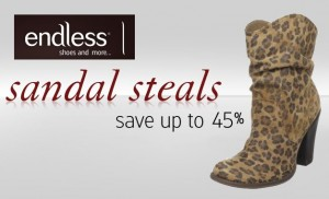 Endless coupon codes for October 2012 with Discounts on shoes, handbags, sunglasses, jewelry, watches and more
