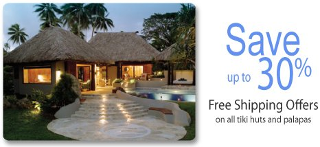 Bamboo Poles for Sale at Resort Backyards Plus Get Up to 30% OFF on All Tiki Huts Plus Free Shipping