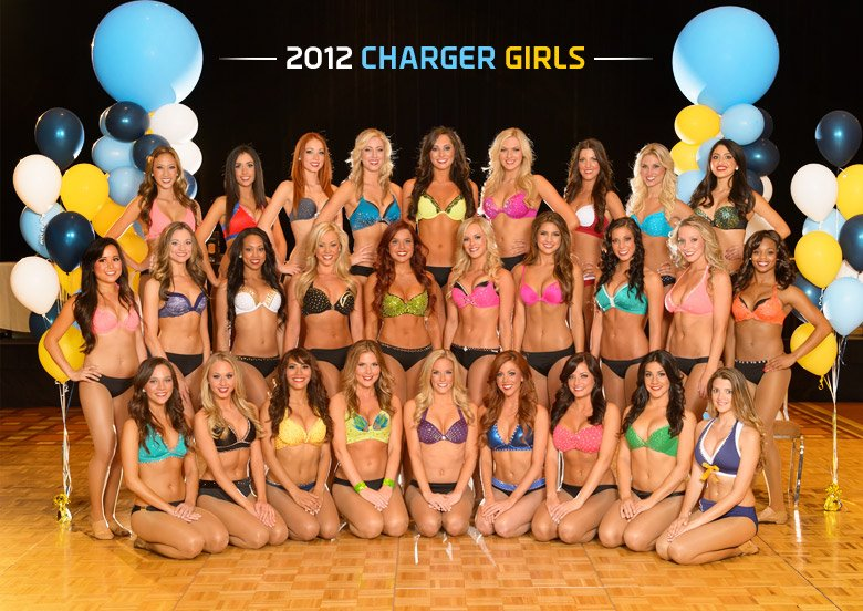 San Diego Chargers Cheerleaders 2012 Roster