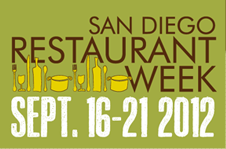 San Diego Restaurant Week September 2012