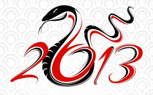 Year of the Snake, White Background