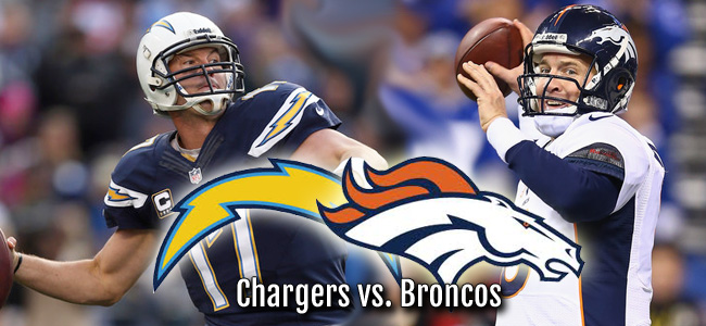San Diego Chargers Vs Denver Broncos Nfl Playoff Game On