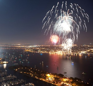 Ocean-beach-fireworks