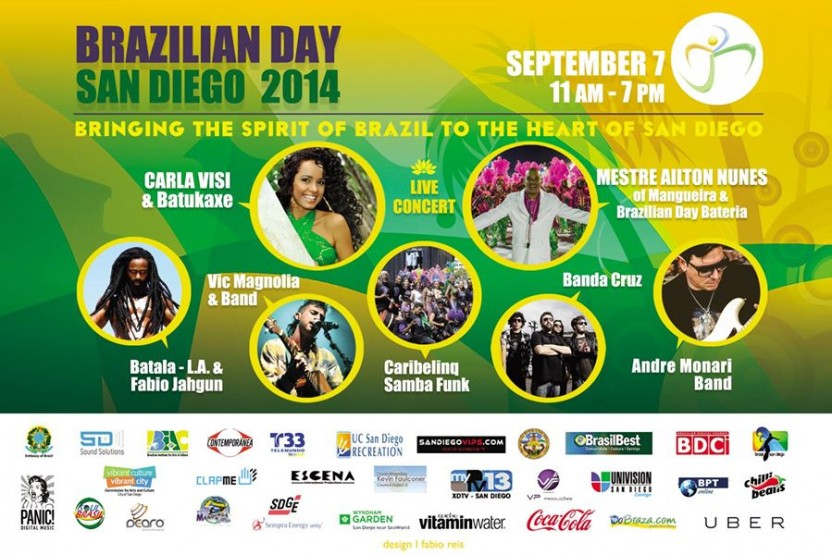 7th Annual Brazilian Day San Diego Street Fair and Parade at Pacific Beach
